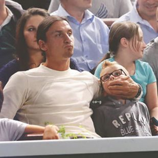 When He Showed His Parenting Skills Courtside At A Federer Djokovic Match Parenting Skills Zlatan Ibrahimovic Parenting