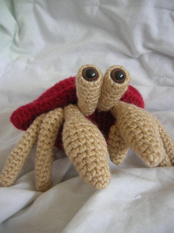 Herman the Hermit Crab - Amigurumi Plush Crochet PATTERN ONLY (PDF ...