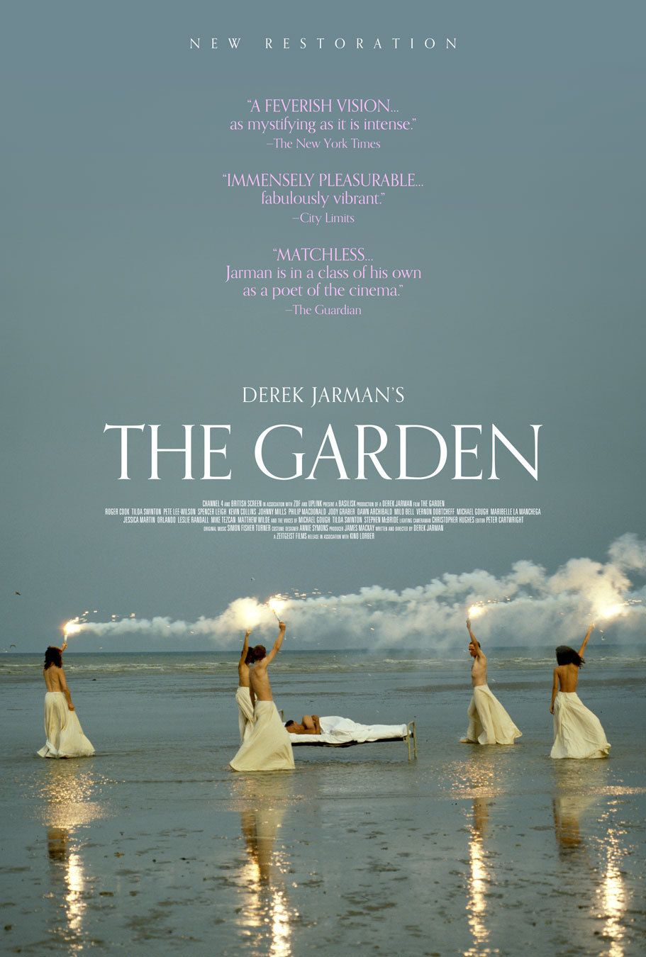 US rerelease one sheet for THE GARDEN (Derek Jarman, UK