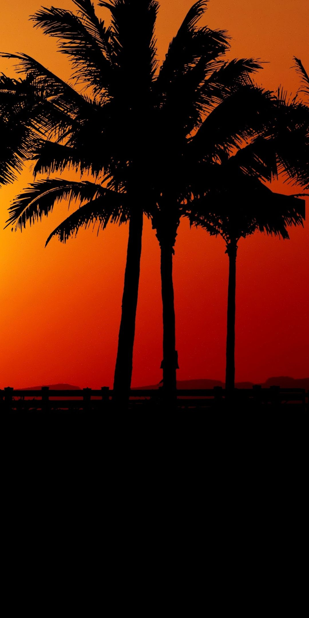 Sunset Palm Tree Silhouette 1080x2160 Wallpaper Palm