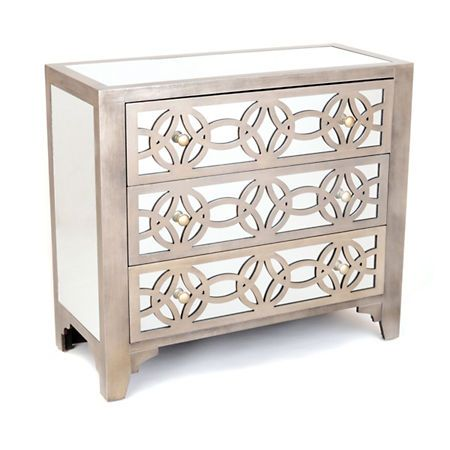 Best Product Details Libby Silver Mirrored 3 Drawer Chest 400 x 300