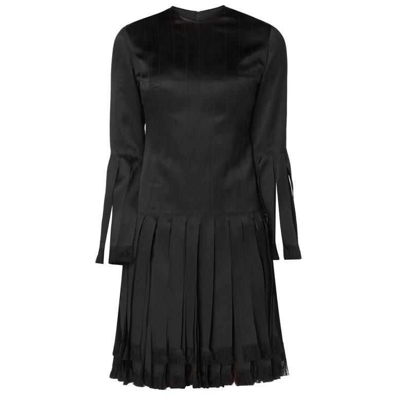 Galanos black dress, circa 1965