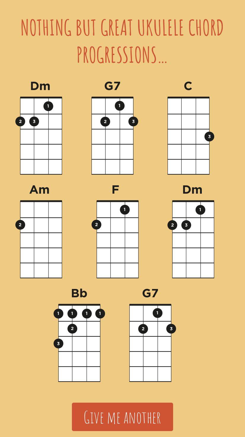Ukulele Chord Progressions   Ukulele chords, Ukulele lesson, Ukulele