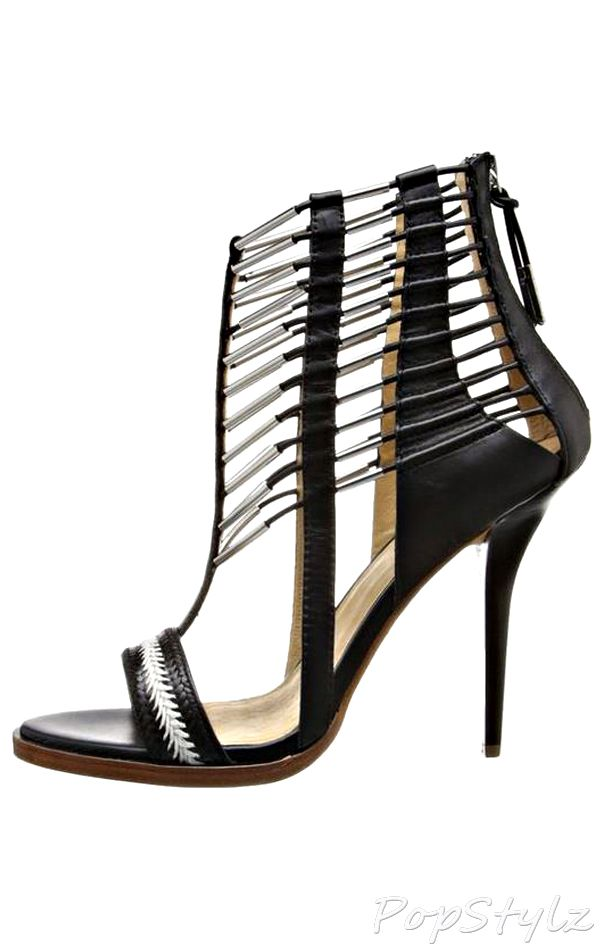 L.A.M.B Fiona Braided Leather Sandal | Braided leather