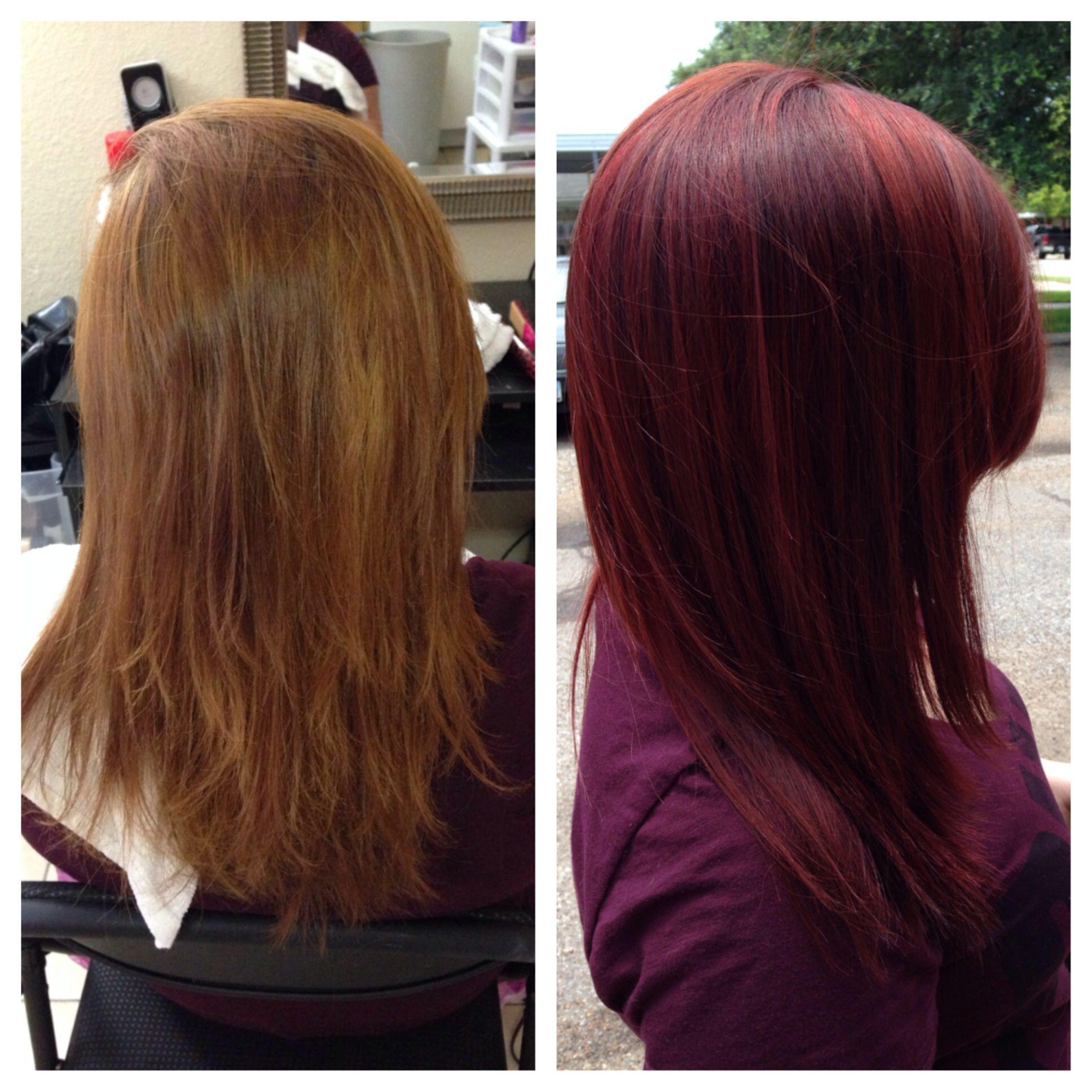 Dark red hair color matrix