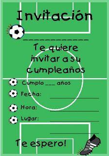 Invitacion Invitaciones De Cumpleaños Futbol Tarjetas De