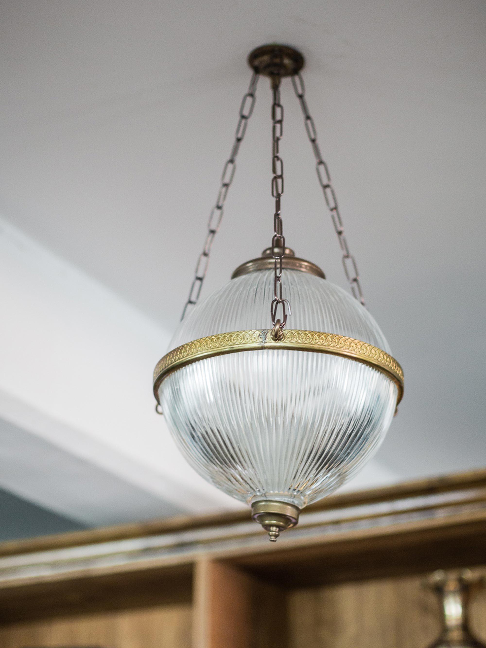 Blaenau Victorian Holophane pendant light in 2020