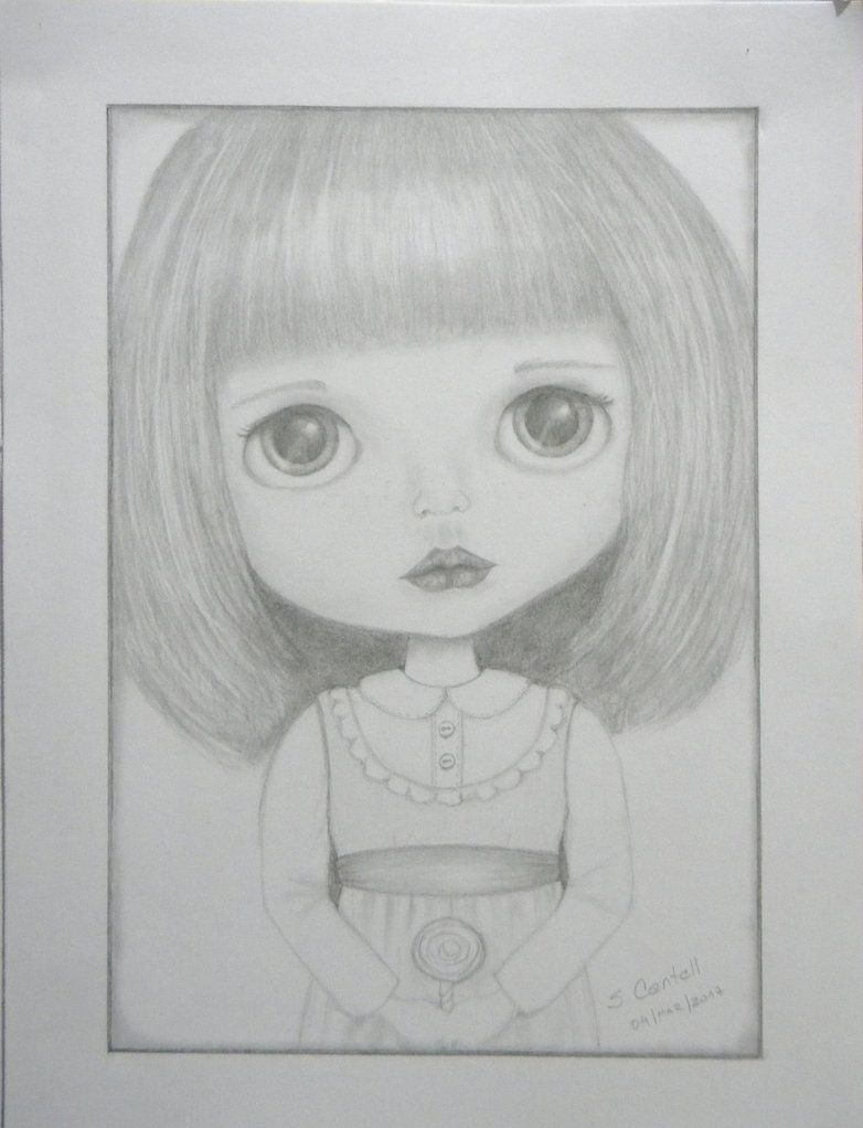 BLYTHE - pencil drawing by Encantadas.deviantart.com on @DeviantArt