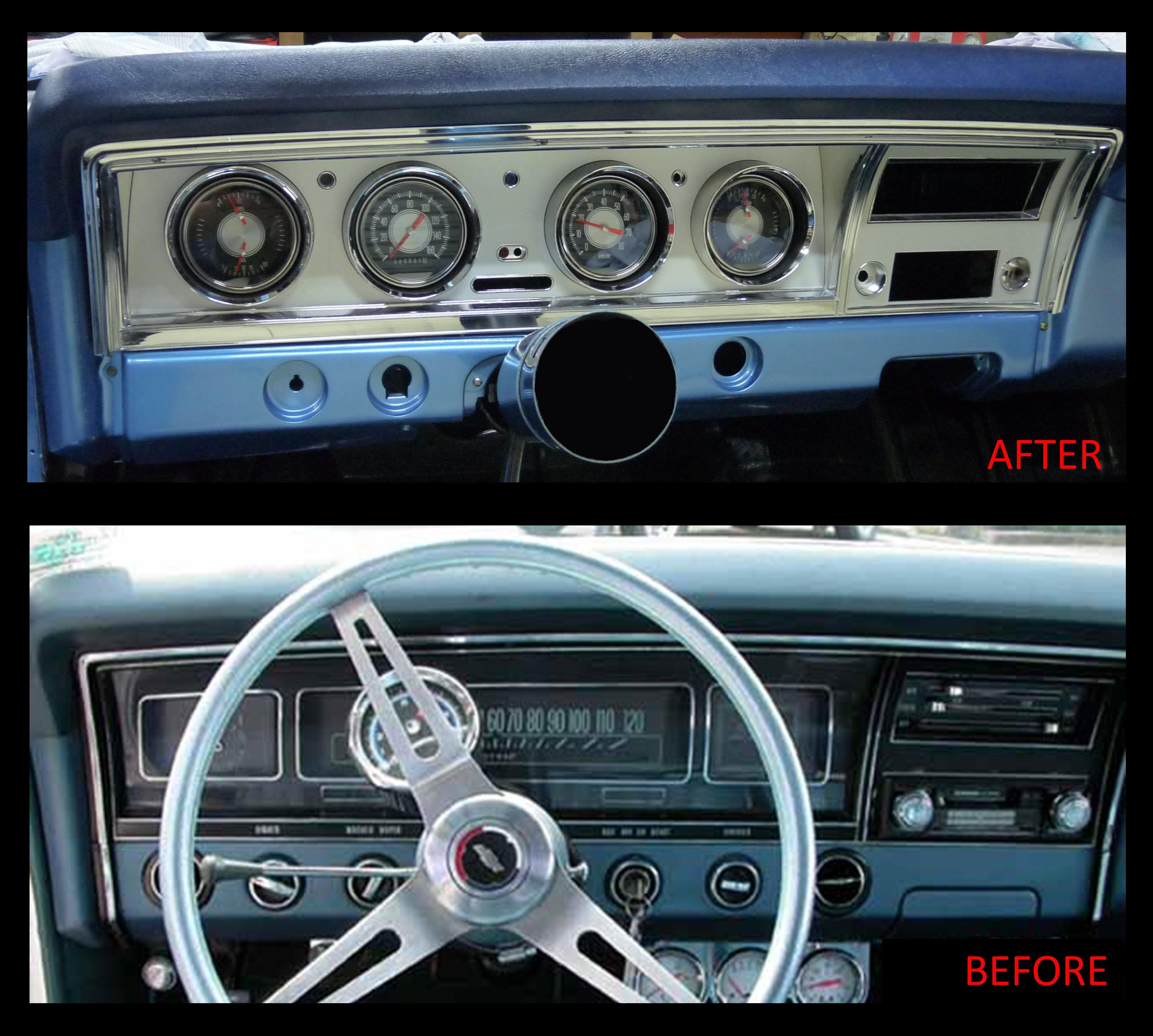 Before and After Shot, of my Custom 1968 Impala