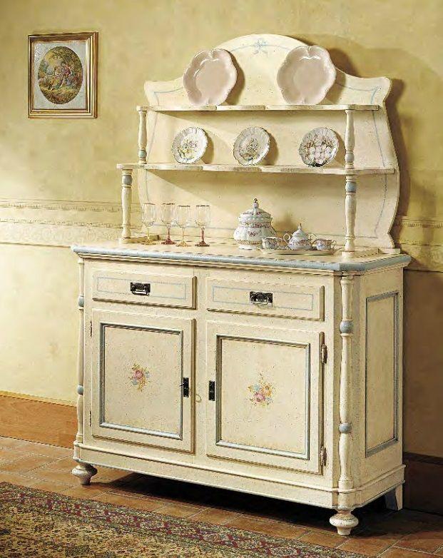 Credenza napoletana in legno laccata e decorata con piattaglia art 300 credenze e madie in - Credenze cucina ikea ...