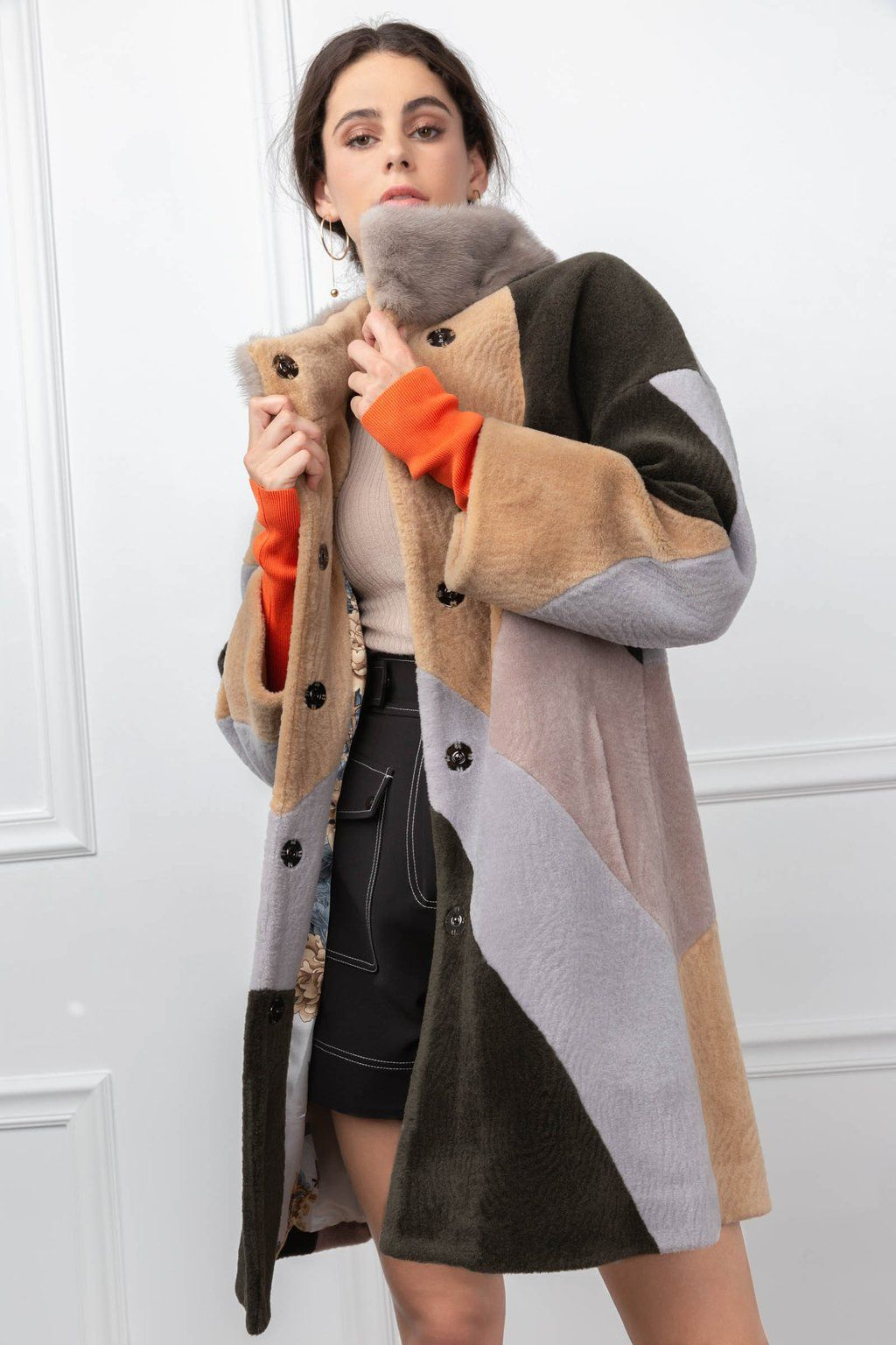 hot new products uk cheap sale wide selection of colours and designs Calico Coat   STREET STYLE •   Coat, Fur collars, Fashion