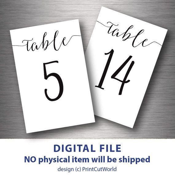 Free Printable Table Numbers Free Printables Wedding Table