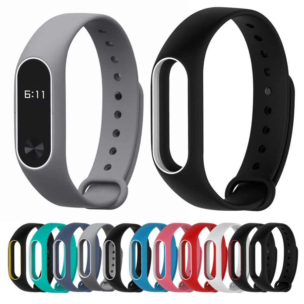 For Xiaomi Mi Band 2 Strap For Mi Band 2 Silicone Bracelet Replacement Wristband Smart Band Accessories Colorful Wris Silicone Bracelets Smart Band Watch Bands