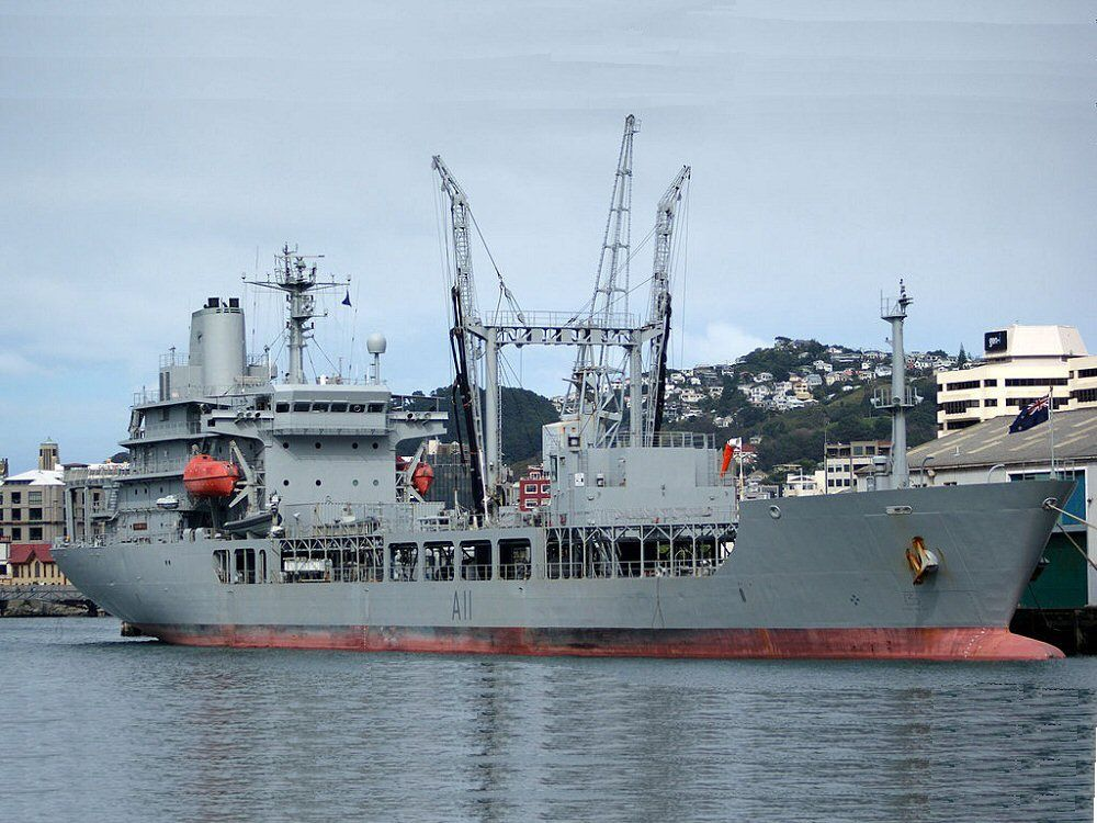 Royal New Zealand Navy Pin Badge HMNZS Wellington