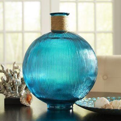 Priscilla S Teal Estate Decor Vase Vases Decor