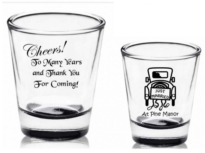 Shot Glass Wedding Favor Ideas