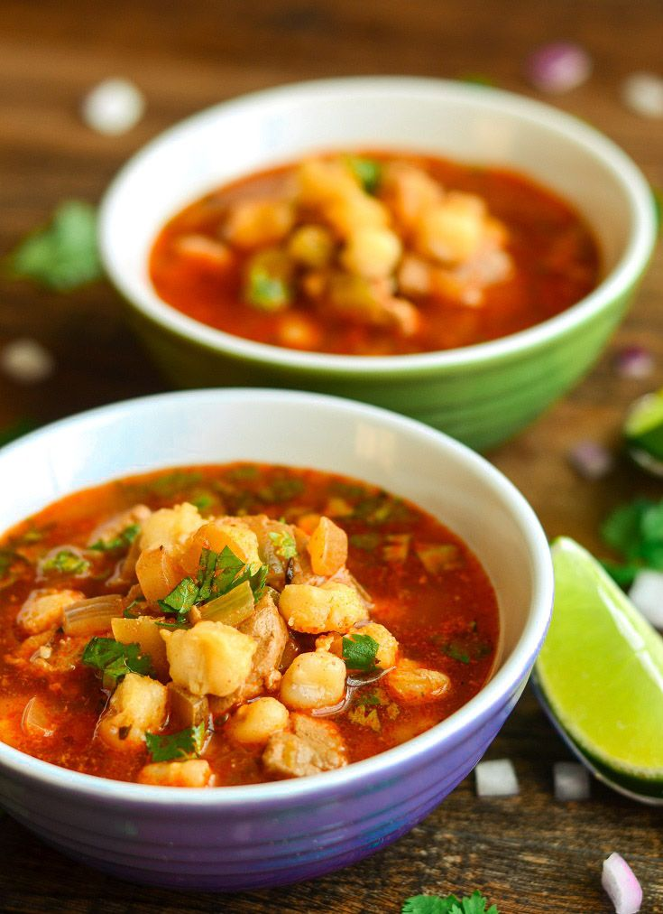 373 Calories- Ridiculously Easy Mexican Pozole (Posole)- The Spice Kit Recipes