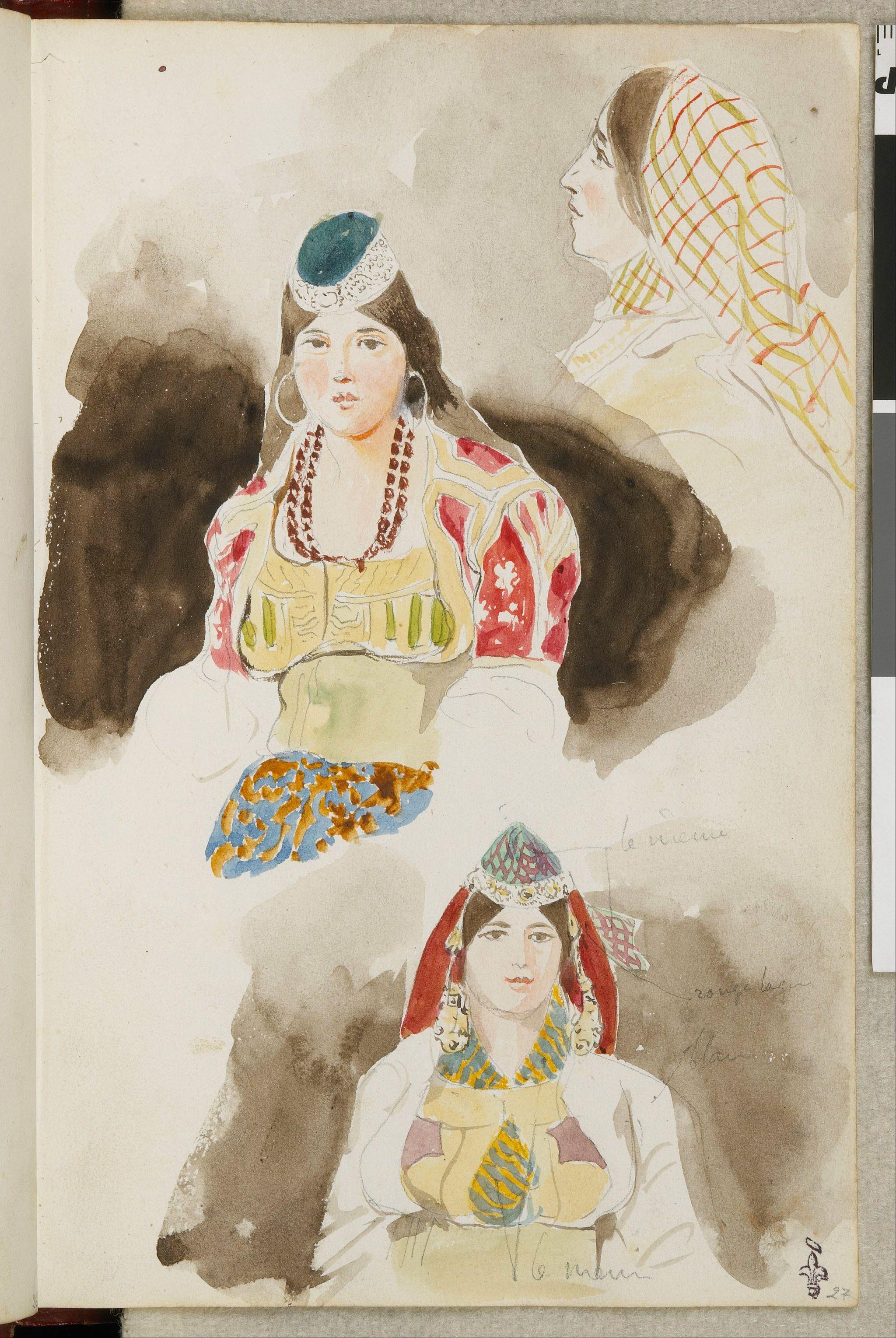 Eugene Delacroix Album De Voyage Au Maroc Google Art Project