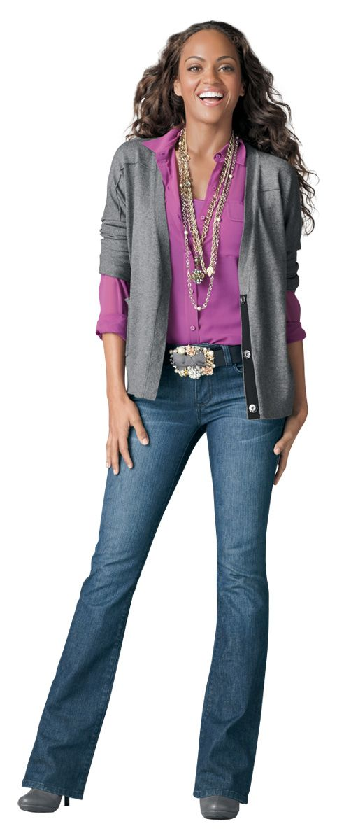 The passion shirt with the Jo Cardigan is so on trend!  What a beautiful color!!!