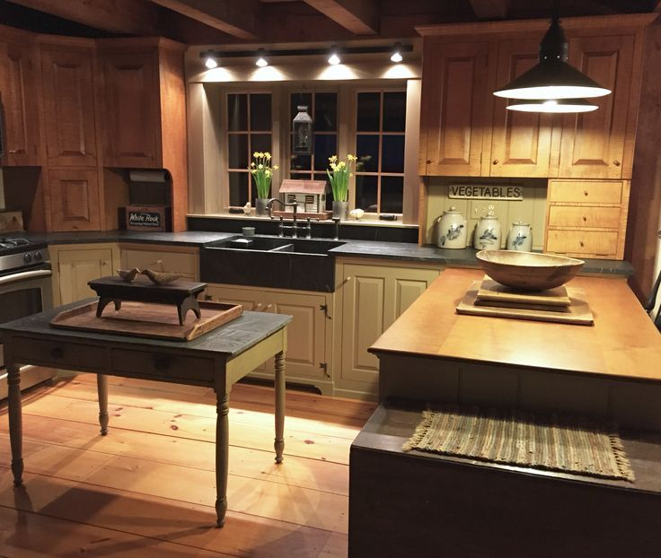 616 Best Images About Primitive Colonial Kitchens On Pinterest David Smith Country Sampler And Saltbox Hous Primitive Kitchen Antique Kitchen Rustic Kitchen