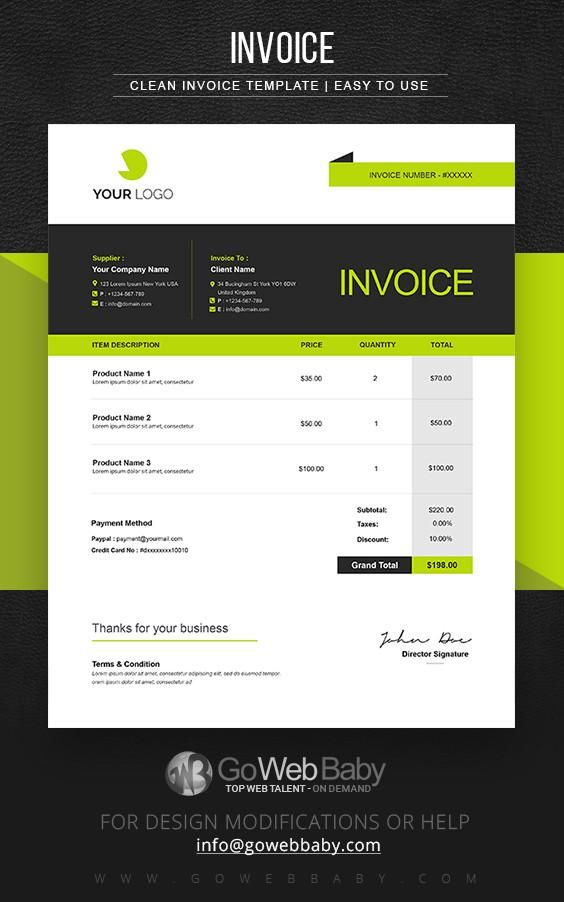 Billing Invoice Templates For Website Marketing  Invoice