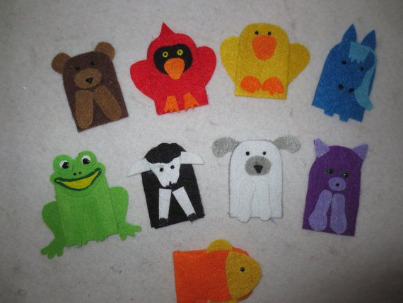 Brown Bear Brown Bear What Do You See Finger Puppets Felt