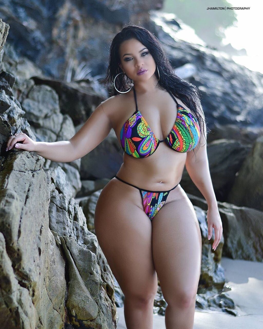 Thick women in bikini