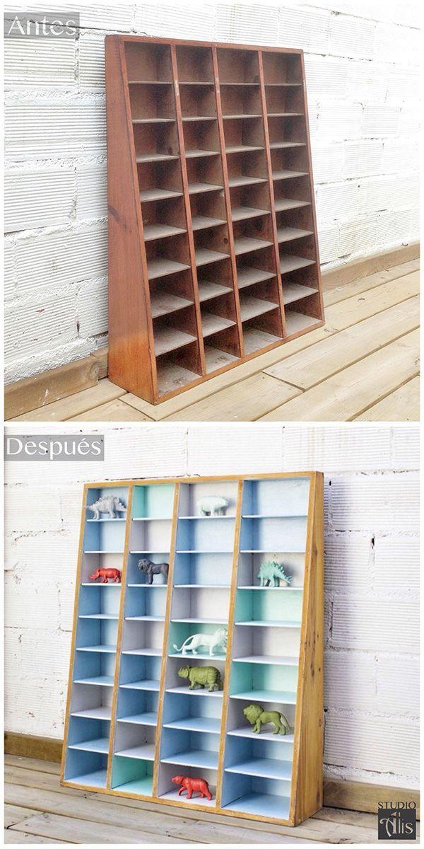 Renovación de un estante organizador infantil. Studio Alis - Barcelona