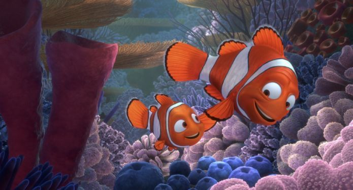 FINDING NEMO animation underwater sea ocean tropical fish ...  Walt Disney Pictures Presents A Pixar Animation Studios Film Finding Nemo