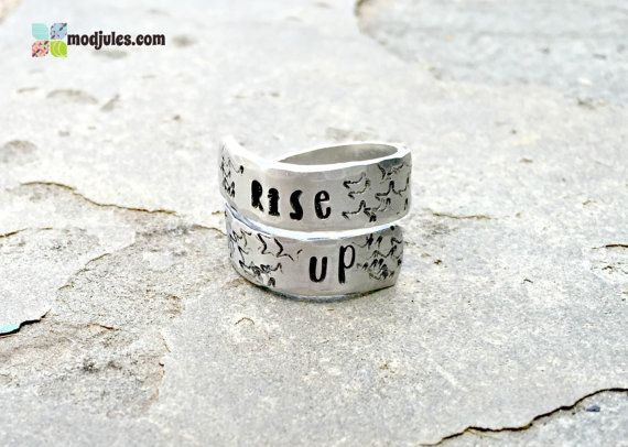 7df903da652be Rise Up Ring, Alexander Hamilton Inspired Ring, Hand Stamped Twist ...