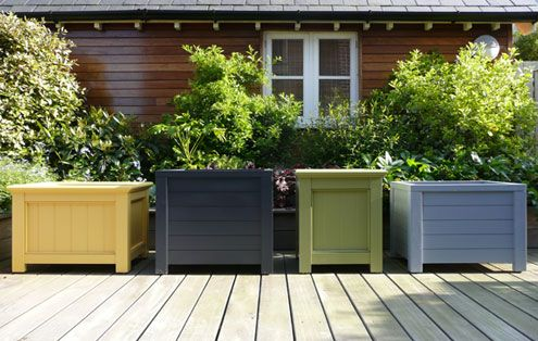 Contemporary Wooden Garden Planters - Essex UK, The Garden Trellis ...