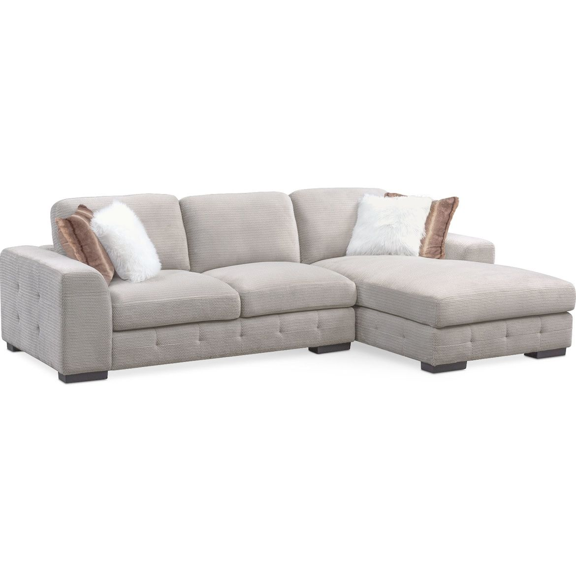 Best Terry 2 Piece Sectional With Chaise American Signature 640 x 480