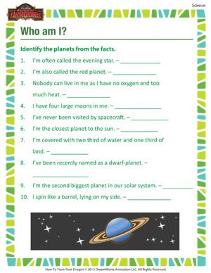 Who Am I Printable 3rd Grade Science Worksheet Online Science