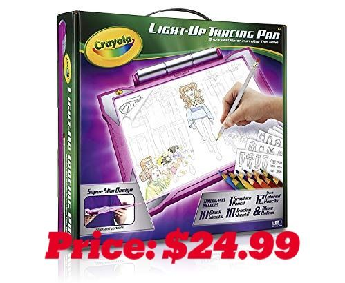 Crayola Light Up Tracing Pad For Girls Features 1 Graphite Pencil