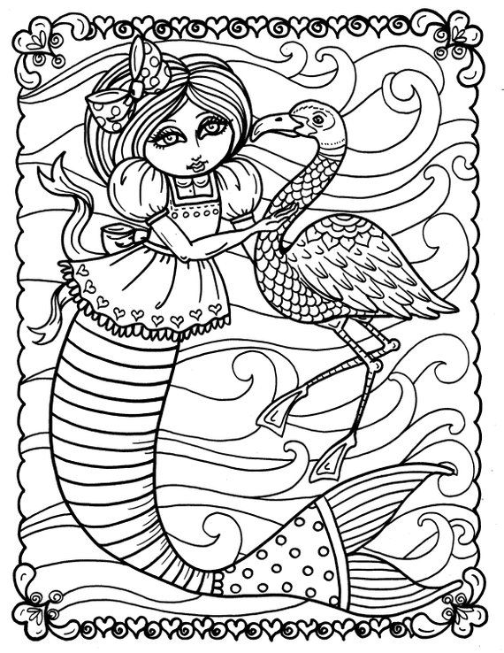 5 Pages Instant Download Alice In Waterland Coloring Pack Be Etsy Coloring Books Love Coloring Pages Printable Christmas Coloring Pages