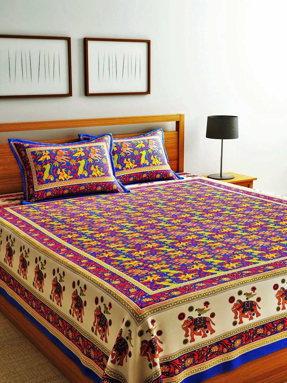 Indian Bedspread Cotton Bedsheet King size Bedding bedroom
