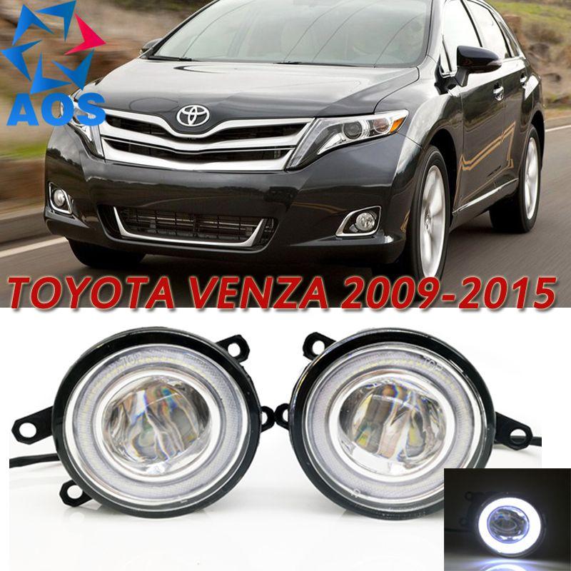 For Toyota Venza 2009 2015 Car Styling Led Angel Eyes Drl Led Fog Light Car Daytime Running Fog Light Set Toyota Venza Led Fog Lights Led Angel Eyes