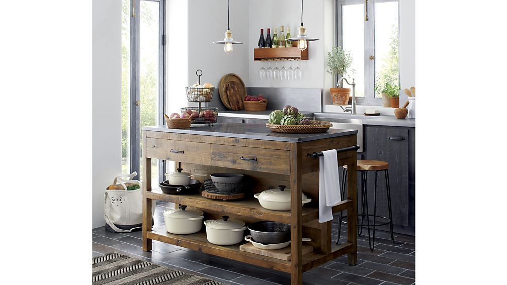 Bluestone Reclaimed Wood Kitchen Island #islandkitchenideas