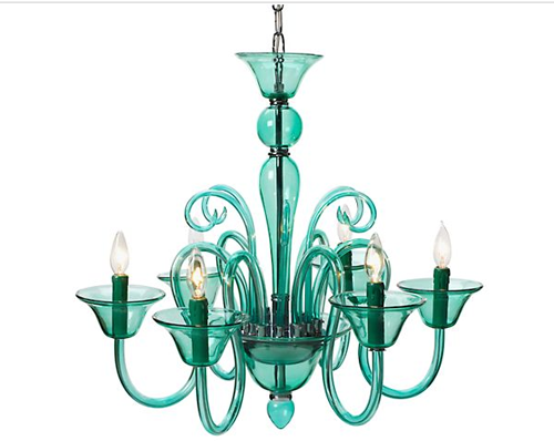 light by z gallerie calais chandelier aquamarine - Turquoise Chandelier Light