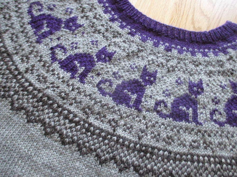 Cat Sweater Knitting pattern by Christin Klös in 2020 ...