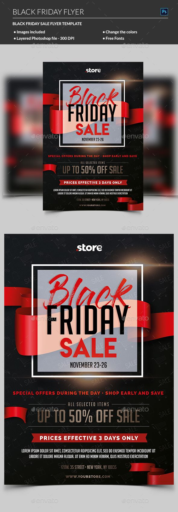 Black Friday Sale Flyer | Sale flyer, Flyer template and Template