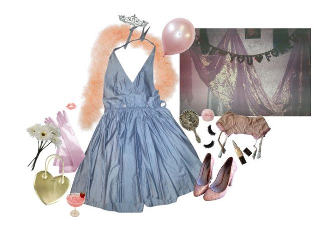 """prom queen"" by bagalamukhi ❤ liked on Polyvore featuring Tara Jarmon, shu uemura, Miu Miu, Fifi Chachnil, Kate Marie and Gerber"