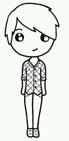 Boy Chibi  Chibi Templates    Chibi Drawings And Kawaii