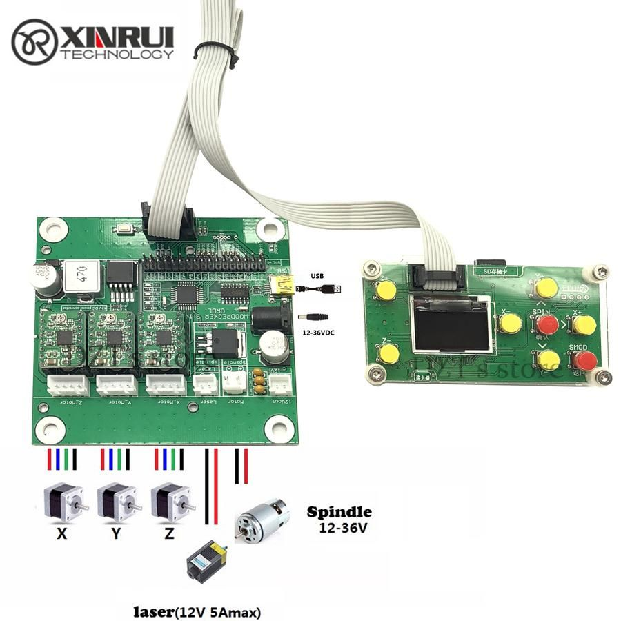3 axis control,laser eng GRBL 0.9J,USB port cnc engraving machine control board