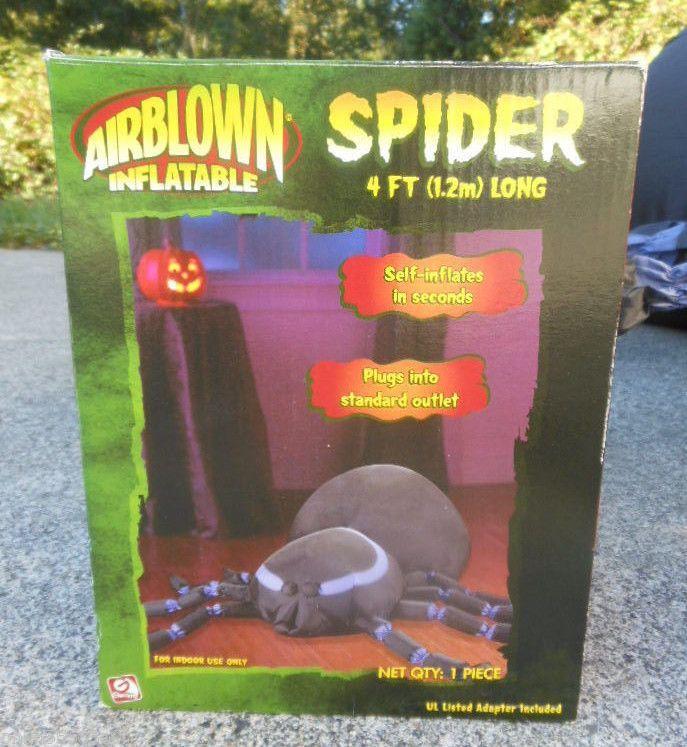 Gemmy Airblown 4\u0027 Spider Black Purple Inflatable Halloween - inflatable halloween decoration