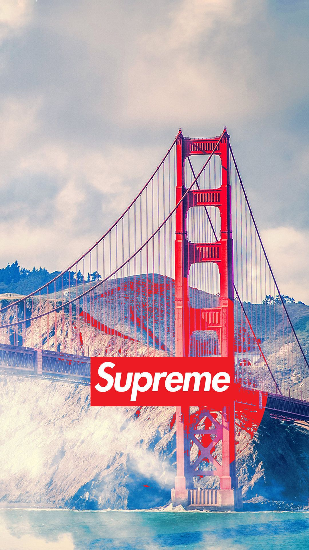 San francisco supreme tap to see more of the supreme - San francisco iphone wallpaper ...