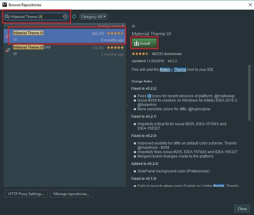 Change IntelliJ IDEA Theme to Material UI Theme #coding