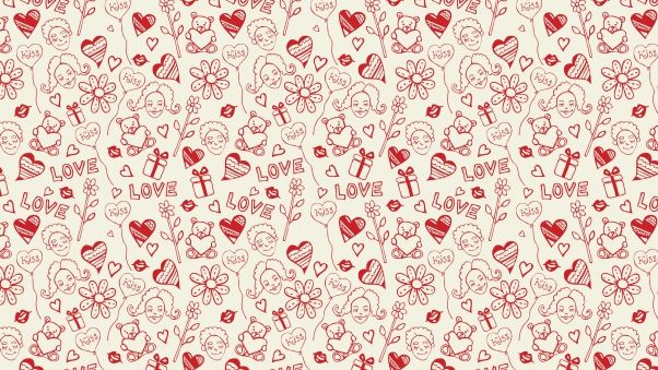 Wallpaper heart, drawing, love, colorful