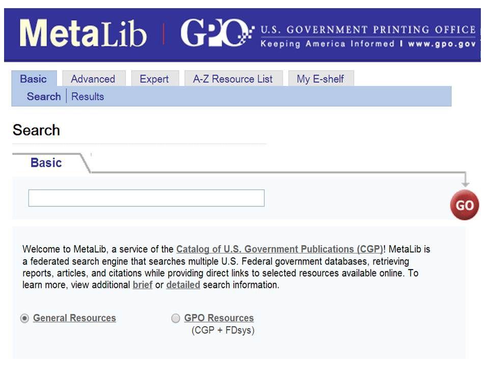 Metalib Government Search Engine Federation