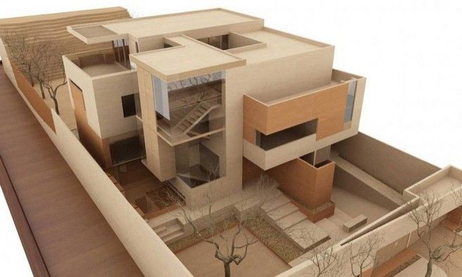 Maquetas monocromaticas volumetricas de carton buscar - Proyectos para construir una casa ...